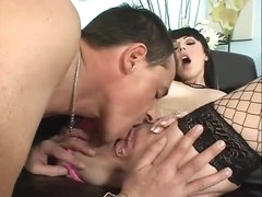 Super thick rod fits into her Euro anal opening