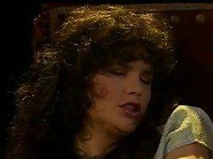 Vintage voyeur scene of a classic lady teasing her furry cunt