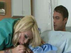 Tatooed blondie screwed by the doctor