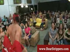 CFNM stripper schlong games with ravenous ladies