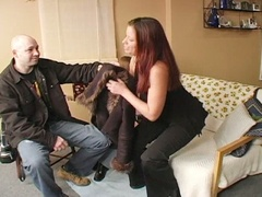 Excited hubby doesn't want to get busted banging the daughter