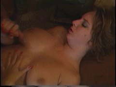 Retro Mindy Rae rides guys face with her taut fur pie then fucks