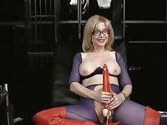 Nina Hartley loves tormenting her wet wet slot