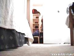 Spying my 18 years StepSister in her bedroom