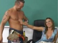 Construction Worker Finds Hot Teacher Devon Lee At Her Desk And Makes Her Engulf His Shlong In advance of This chab Fucks Her Muff Right There In The Classroom Aged Boobs Cumshot