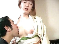 Pale Oriental Girl Gets Cummed On