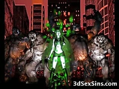 Freak Monsters Gangbang 3D Girls!