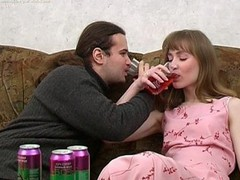 Ivan and Nelly are enjoying wine coolers that are made specifically to get a doxy drunk and the babe drinks down as much as that guy gives her. The greater amount this chab pours the greater amount that babe drinks and when this chab peels a banana for her to eat this babe can't help but oblige his naughty desires. When a babe chews a phallic fruit in such a lusty manner it's fastened to get a guy all lustful and aroused. A little greater amount liquor and this guy's willing to make his move with this sexy slut. That Babe gives him head and then this guy pounds her fur pie missionary and doggy style. It's great drunk hardcore sex for sure