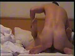 Nice girl's skillful mouth works on her lover's beefy pecker, licking and sucking it very keenly and gets drilled ardently.