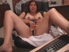 Latin babe gets her snatch fucked and stroked by her beloved toy. She started with tender touches and finishes with pounding.