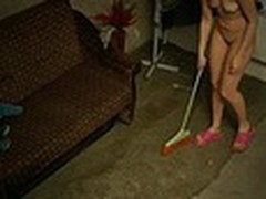 The owner of this terrible apartment was cheerful when this chab saw how neat this new girl was but we are pretty sure that this chab enjoyed her youthful naked body shamelessly filmed by spy camera even more!