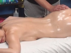 Gia enticed and fucked by her massage therapist on hidden camera