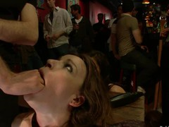 Hot nice-looking beauty drilled and dominated in real bondage!