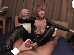 Welcome home honey! Before we go to bed, why don't I show u my recent leather body suit? And while we're at it, why don't u taste my tight butt hole and I'll ride your angry dick while u you play with my enormous jugs at the same time? We'll reach heaven before we call it a night, my dear hubby!