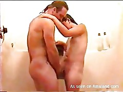 Although we are taking a shower she's still dirty, and I'm talking bout a smutty mind. My wife can't live out of when I fuck her like a whore and seeing that sexy juicy body, it's hard not to drill her bawdy cleft hard. I take her in my arms, fuck the shit out of her and then give her the old fuck from behind before this playgirl kneels