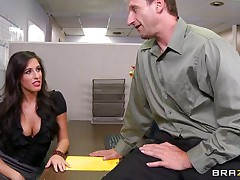 Look at that sexy brunette hair telling her boss to come in the storage room so this babe can castigate him for trying to fuck them. Two of her allies come along and they acquire horny on that chaps cock. Are they going to acquire some spunk on their sexy lips or some hard cock in their constricted pussies?