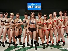 A lot of sluts and every of one wants to win! Well, it will be a very lengthy and hard match but it worth seeing it. These strumpets are hawt and merciless, pretty soon the game starts and things get intense. Should we begin betting one who will win and what the losers will have to get through?