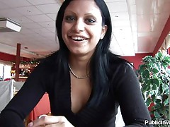 I found this Hungarian slut named Kyra in a bar, this babe was smokin' hot and I just knew I had to fuck her. Kyra was joyful and slutty likewise so one thing led to another and pretty soon we went in the hotel room. There this babe showed my what a fucking bitch this babe can be and took of her raiment in advance of licking and engulfing my cock.