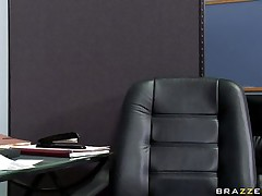 See this hot chick entering her bosses office asking for some money. Look at her large bra buddies and her moist lips engulfing that large cock. Suddenly his wife comes in and this chab freaks out but the horny floozy still doesn't desire to leave. Is this babe going to acquire some extra money?