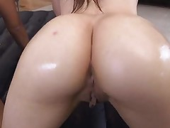 Beautiful sluts with massive juggs are bounding on overweight rod