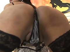 Hawt t-girl bonks like hell & milks her partner completely dry