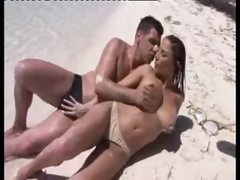 Sex on a beach with his incredibly sexy paramour