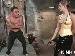 Domination tart drills a dude with a strap-on