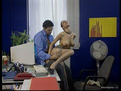 Sexy Brunette Secretary Fucks Her Boss In The Office