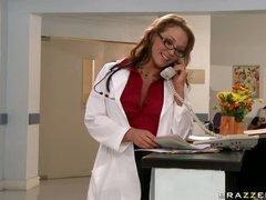 Carnal Brunette Dr Nikki Sexx Sucks and Bonks a Big Pecker In Nylons