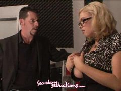 Katie Kox and Jack Vegas horny office stuffing