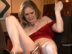 Diane loves her fresh dildo