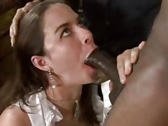 Nicole Rider takes this hard rod down her face hole