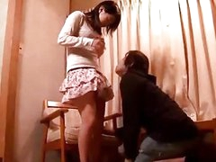 Shy Beauty Getting Her Slit Licked Fingered While Sitting On The Chair In The Room