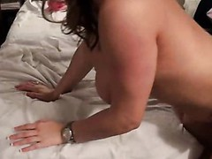 Sweet doxy with rainbow socks acquires fuck by aged white dude.