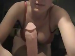 As soon as the panties come out, the unbending cock bounces up and goes free! She looks at it with a drooling throat and tastes it immediately. The moist penis acquires even juicier with her spit to polish it off.