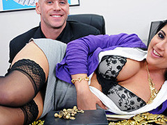 Kimber is a gold appraiser working at ZZ Gold. Her boss, Johnny, discovers one day that the books aren't balancing right and confronts Kimber about this. When this stud discovers that that babe's been stealing gold from the company this stud comes to a conclusion to call the police. Kimber entreats for forgiveness and suggests to let Johnny do everything that stud wants to her. Needless to say, this  breasty sweetheart is going to receive PUNISHED!