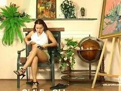 Breasty youthful sweetheart calling up an old plumber to fix her trickling soaked cum-hole