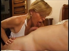 French Mature Give Some Experience To Young Chap
