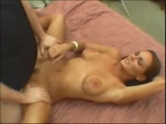 Angel on her back for a hard fuck