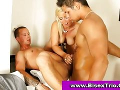 Bisexual three-some sex