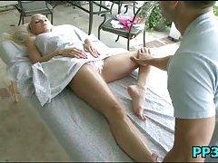 Slutty babe massaged & pounded