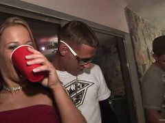 Drunk Chicks Kara Tai and Tiffany Merlot Getting Fucked In College Party