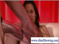 Cfnm girls pumping and blowing shlong